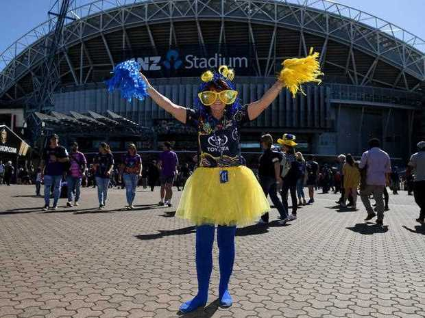Joanne Mitchell from Ipswich is seen ahead of the NRL grand final between the Melbourne Storm and the North Queensland Cowboys at ANZ Stadium in Sydney, Sunday, October 1, 2017.