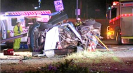 The wreck of the car which killed Kyle and Brent in 2008.