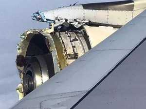 Jumbo makes emergency landing after engine explodes midair