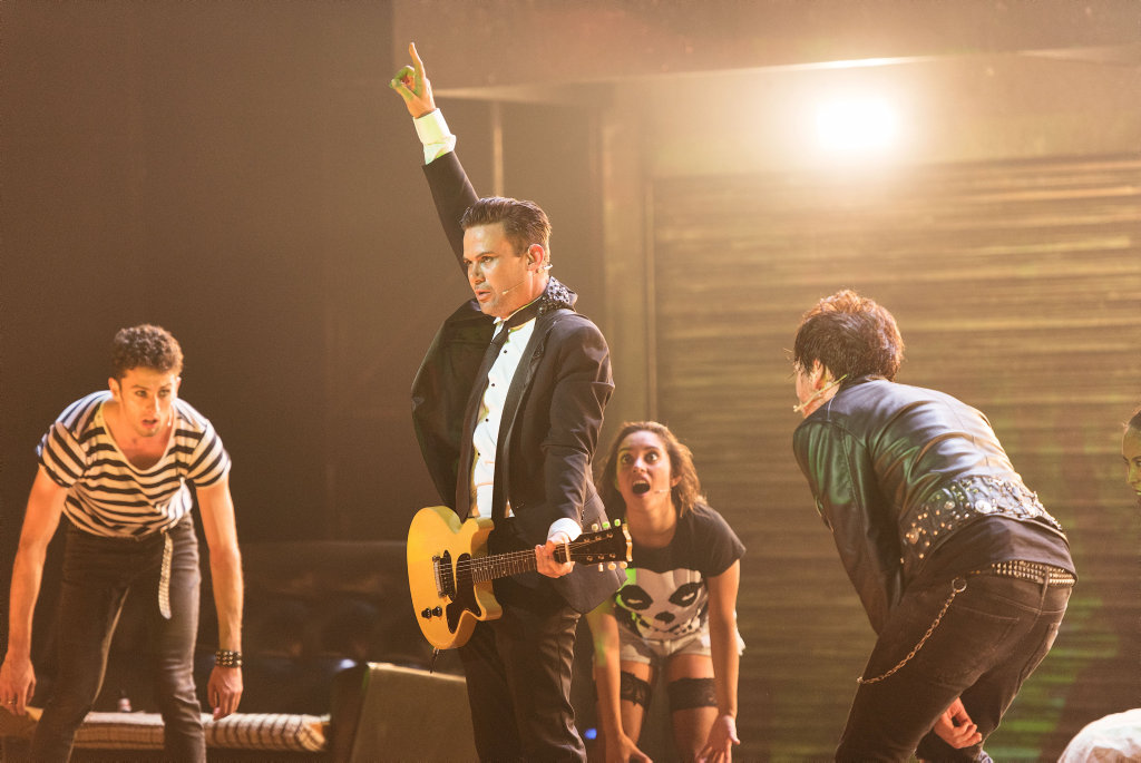 Phil Jamieson in a scene from Green Day's American Idiot the musical.