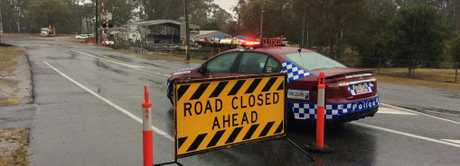 ROAD CLOSED: Fingerboard Rd is blocked off to traffic from Blomfield St towards the intersection with Bindaree Rd.