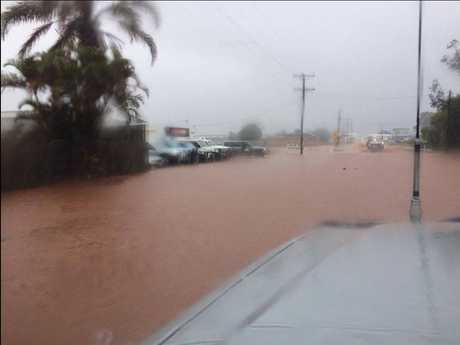 WATER OVER ROAD: North Bundaberg has water covering the roads