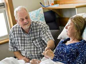 Stroke survivor marries true love in Toowoomba hospital