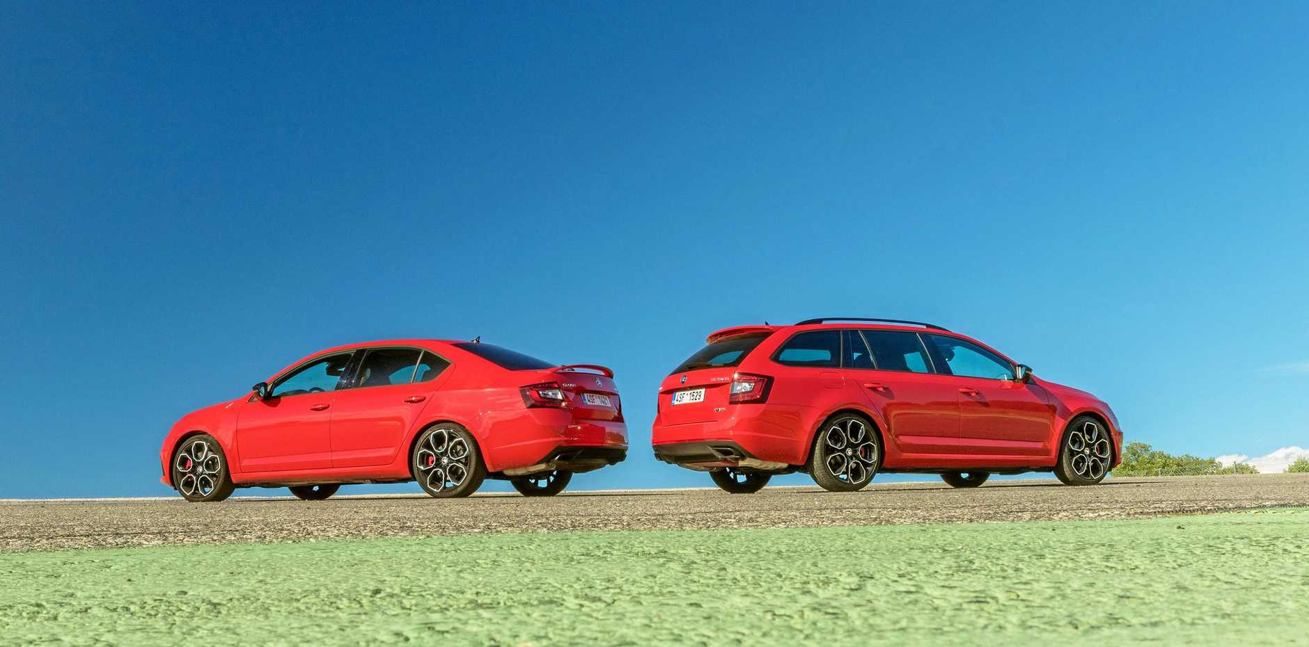 The 2018 Skoda Octavia RS 245 sedan and wagon.