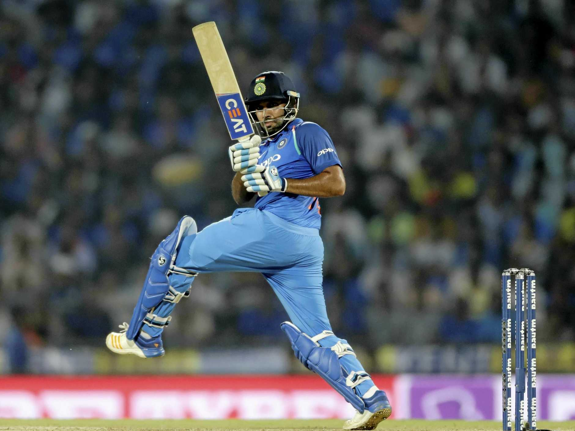 Rohit Sharma on his way to a century against Australia.