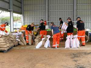 SES busy prepping sand bags