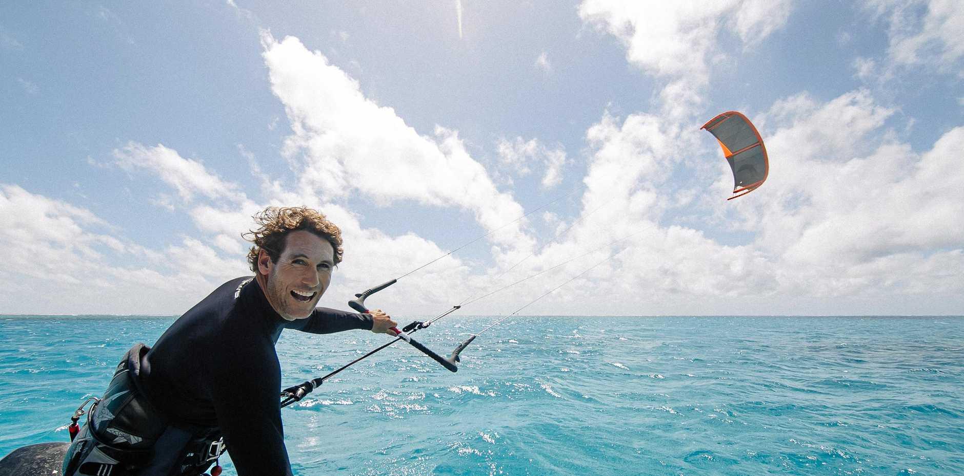Australian kitesurf champion, Ben Wilson, chasing secret waves on the Great Barrier Reef for the first time.