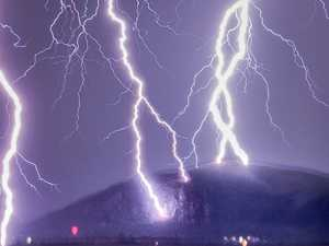 Mt Coolum under fire: Cracking shots of lightning show