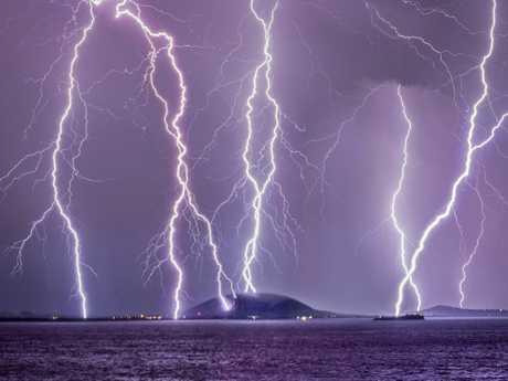Phil Staatz captured the lightning strikes during a severe storm on September 22.