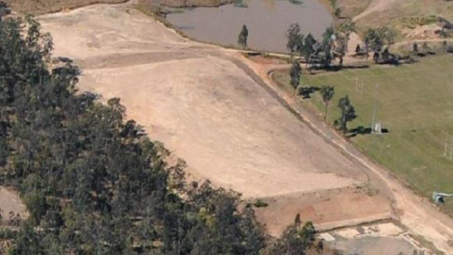 Aerial view of the work at Swifts Rugby League Club near Ipswich.