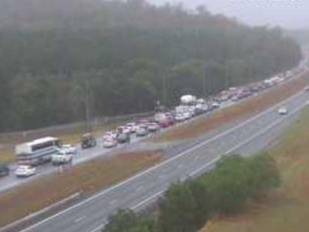 Sunshine Coast traffic congestion on the Bruce Hwy.