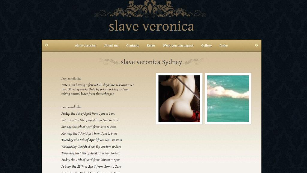 Screenshot of the website that police allege the husband of Jane Smith (name changed to protect her identity) set up to sell his wife as a prostitute to fund his dream of creating a bondage holiday retreat known as The Compound.
