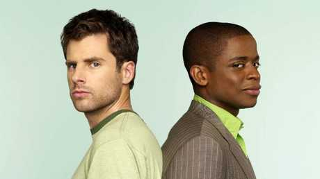 James Roday with Dule Hill from Psych.