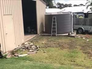 Mini tornado wreaks havoc