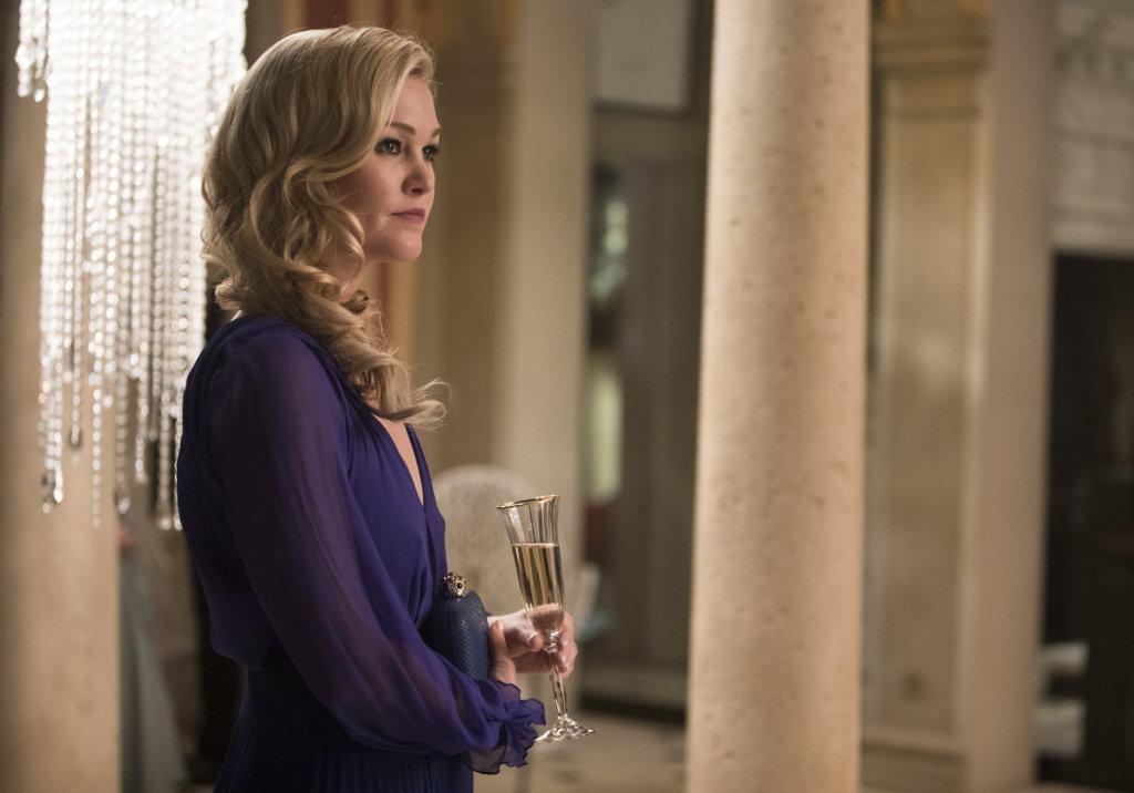 Julia Stiles as Georgina Clios in a scene from the TV series Riviera.