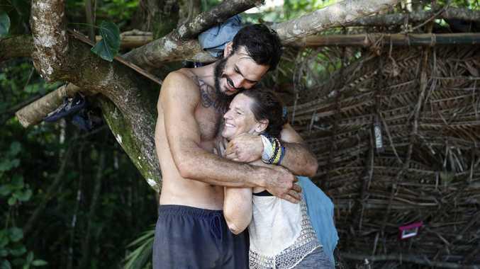Eumundi mum Tara Pitt pictured with her Survivor ally Locky Gilbert.