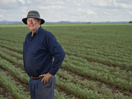 Jondaryan farmer Russell Grundy is thankful for recent rain but says more is needed to bring crops to a successful harvest, Tuesday, October 3, 2017.