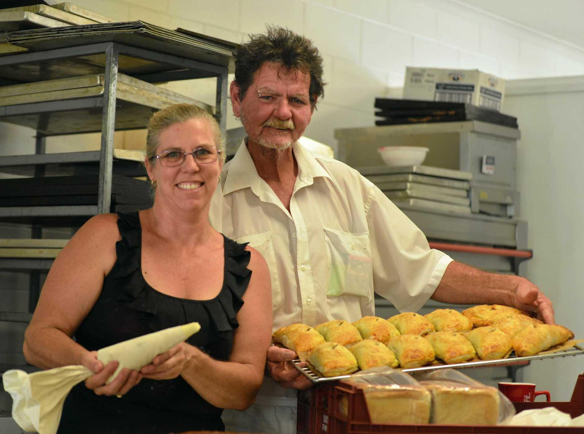 Lisa O'Brien and Walter Woods at Gunalda Bakery.