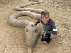 Sand artist brings Coast boy's dream to life