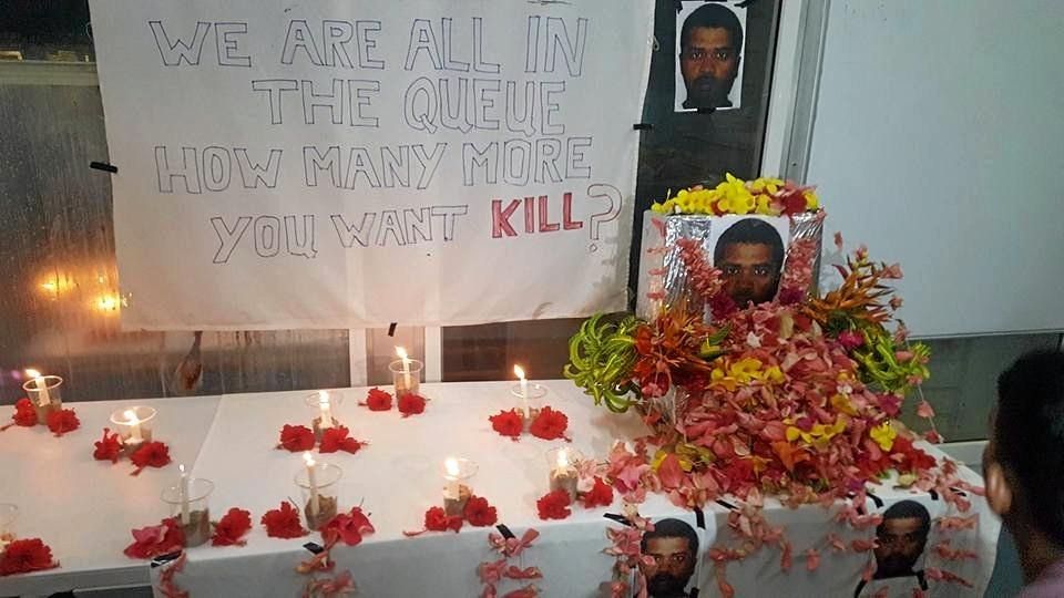 MEMORIAL to the fallen. Refugees on Manus Island express their despair after another death by apparent suicide, the second in less than two months.