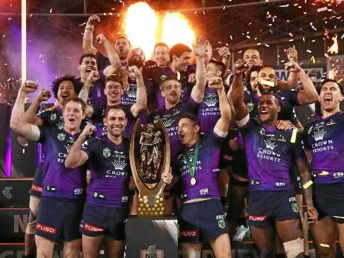 Overrated? ... the 2017 NRL premiership winners.