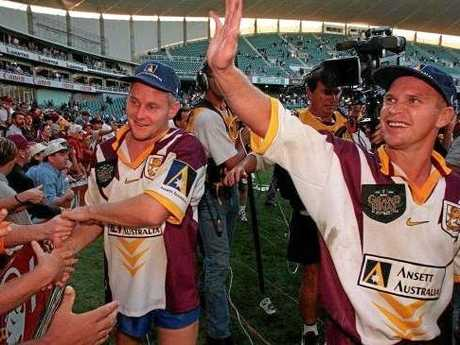 The 1998 Broncos side was packed with Test talent. Photo: Mark Evans