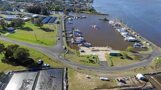 Ballina trawler harbour.