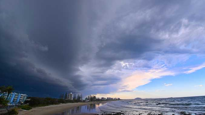 A storm front looms over Maroochydore.