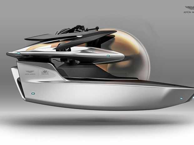 The Aston Martin submarine.