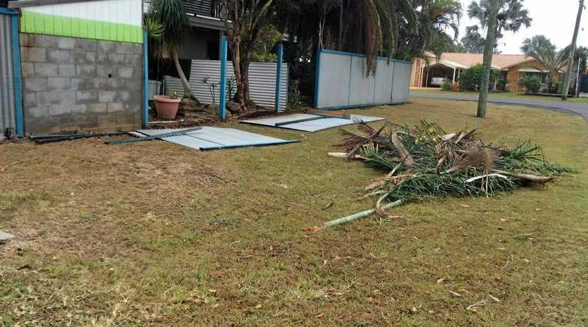 TORNADO DAMAGE: A mini tornado that smashed Innes Park last night destroyed fences and trees, and sent backyard items like trampolines flying.