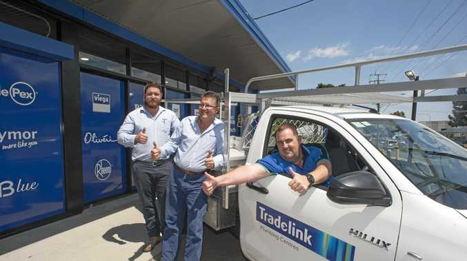 HOME IMPROVEMENT: Tradelink's Wade Young, Dean Walton and manager Shannon Ryan from Tradelink Bundamba.