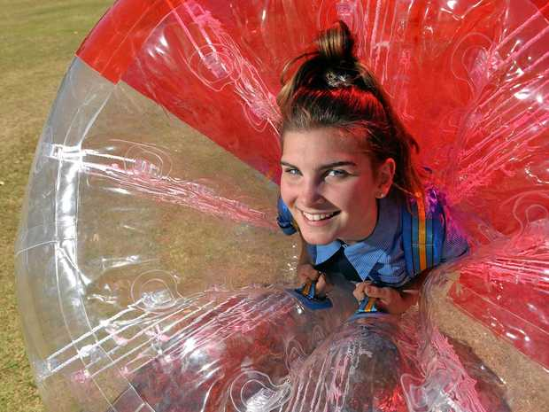 COLOURFUL IDEA: Year 8 student Capri Palmer in practice for the Ninja Colour Challenge at Kawana State College on October 13.