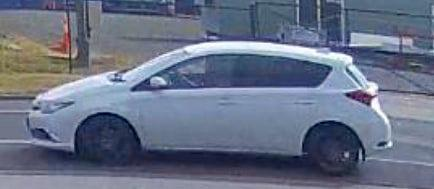 Police are seeking a man driving a white Corolla, believed to be a hire car, who has been scamming businesses.
