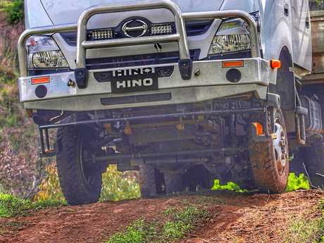LEFT: The high ground clearance and rugged undercarriage means the 300 Series can carry the goods to remote locations.