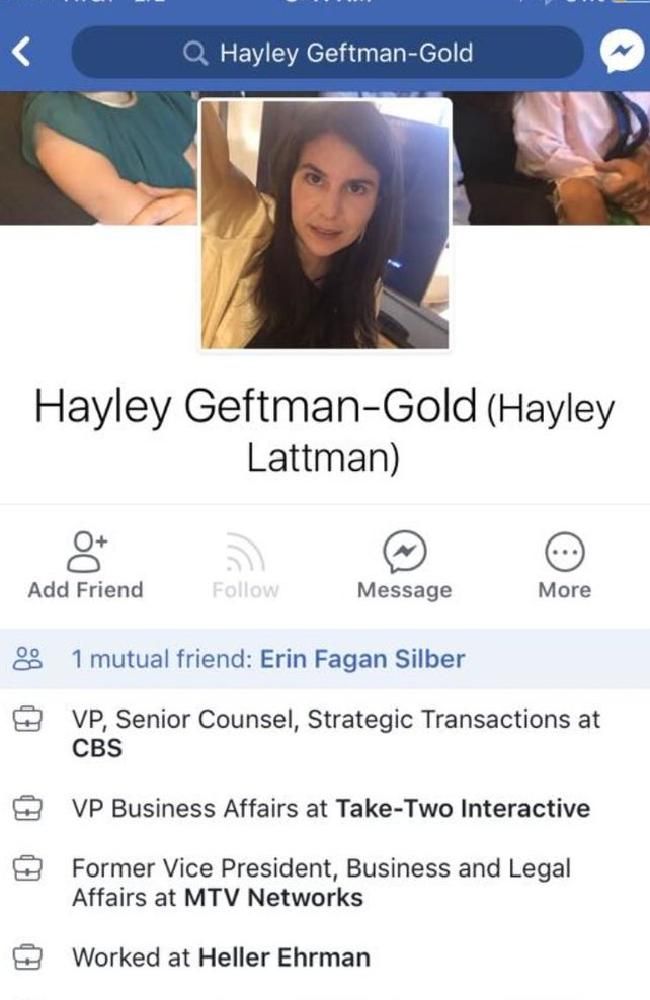 Ms Geftman-Gold worked at CBS for about one year.