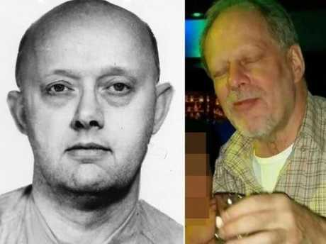 Stephen Paddock (right) and his bank robber father Benjamin Paddock (left).Source:Supplied