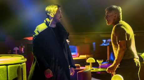 Ryan Gosling and Harrison Ford in a scene from Blade Runner 2049.