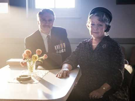 Robert Coleby and Noni Hazlehurst in a scene from season five of A Place To Call Home.