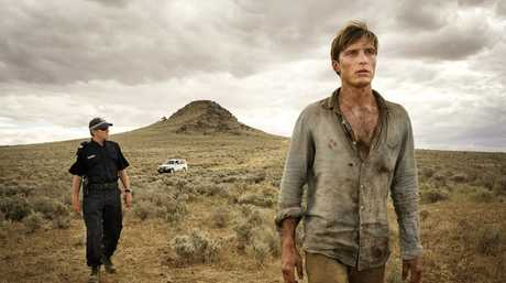 David Wenham and Sean Keenan in a scene from Wake in Fright.