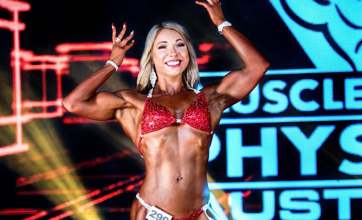 HOBBY SATISFYING: 2017 Musclemania Australia Women's Physique Champion Rebecca Pateman.