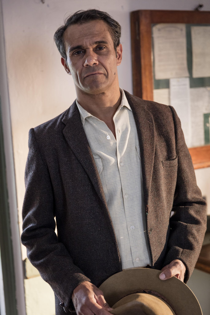 Aaron Pedersen plays Frank Gibbs in season five of A Place To Call Home.