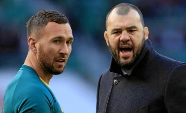 Quade Cooper is looking forward to showing Michael Cheika (right) what he is missing.