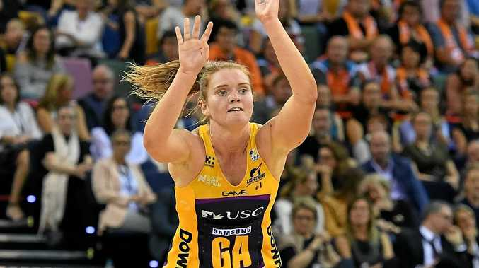 TOP SHOT: Sunshine Coast Lightning player Stephanie Wood is ready to hit the court for the Diamonds in the Constellation Cup.