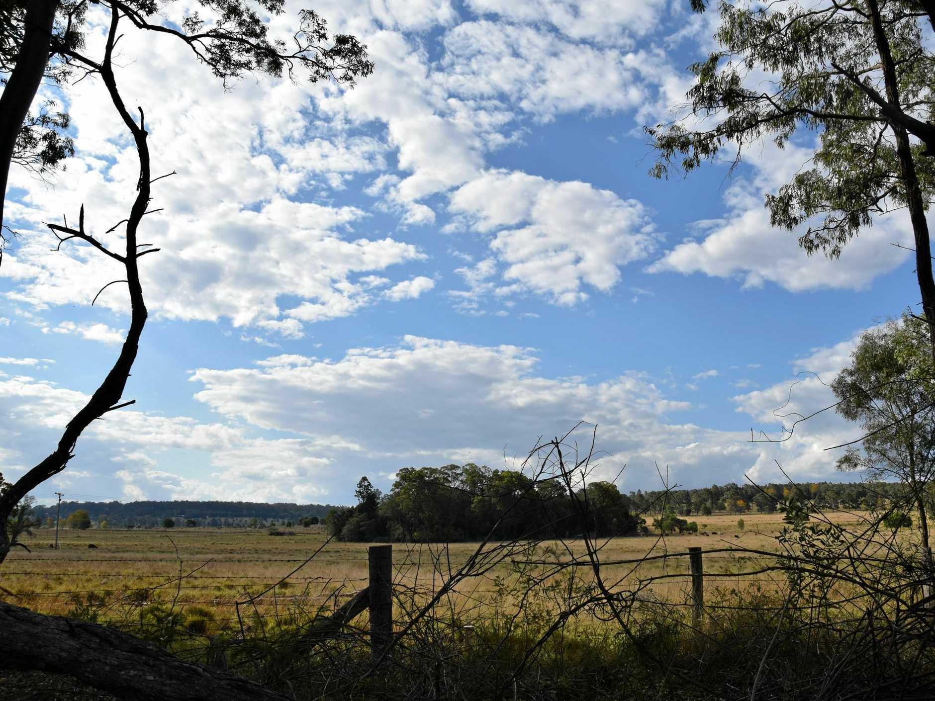 The site where the new solar farm will be built near Kingaroy.