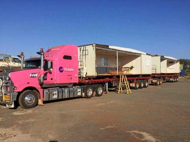 BRAND NEW: The Pilbara girls  set up the new site that comes red dirt free and with a working loo.