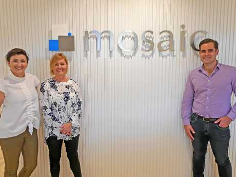 Mosaic's Bobbie Murphy, business development and events, Kim Brand, executive assistant and office manager, and Marcus Muir, Sunshine Coast sales manager.