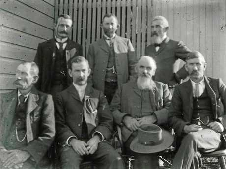 Jill Lillingstone's grandfather with friends. Do you recognise anyone in this photo?