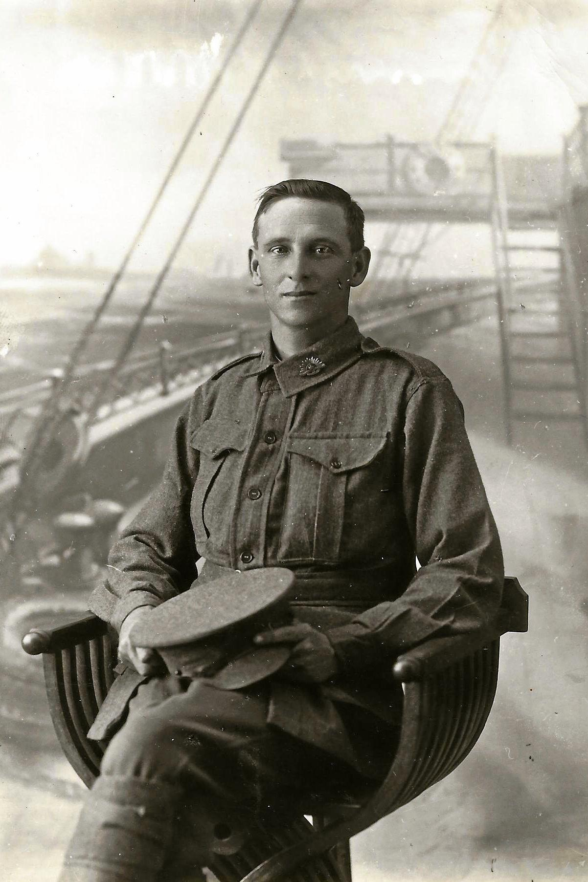 NEVER TO RETURN: Maleny's Tom Lillingstone, pictured days before he left for the war, was killed in action at Broodseinde Ridge, Belgium, near the French border, in what is known as