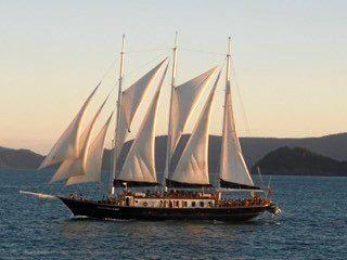 Whitsunday Magic with full sail up in the Whitsunday Passage circa 2008.