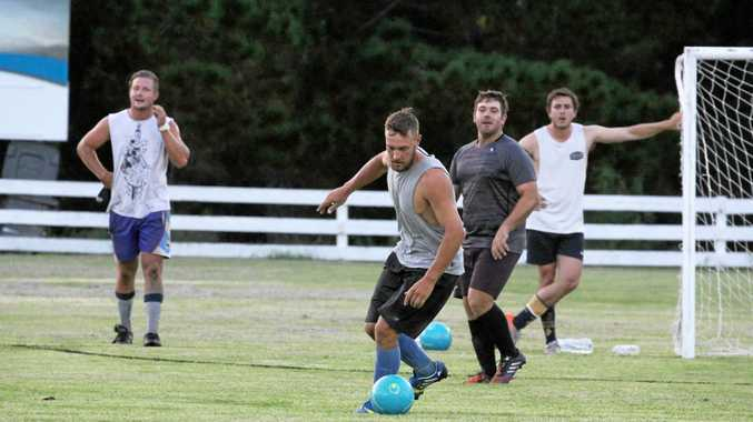 NEW-LOOK COMP: Gringos player Michael Grubic goes for a run against Poponi during the last season of five-a-side.
